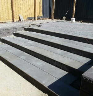 Retaining & Bluestone Paving Steps
