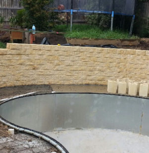 Retaining Wall Around Pool